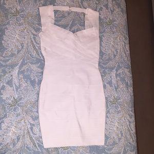 Fashion Nova Normandy Bandage Dress White M